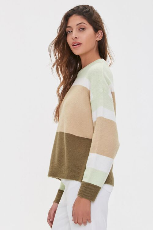 Multistriped Drop-Sleeve Sweater, image 2