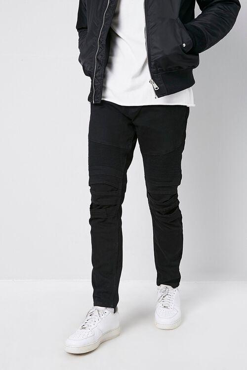 Skinny Moto Denim Pants, image 1