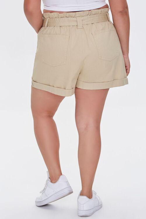 Plus Size Sash-Belt Cuffed Shorts, image 4