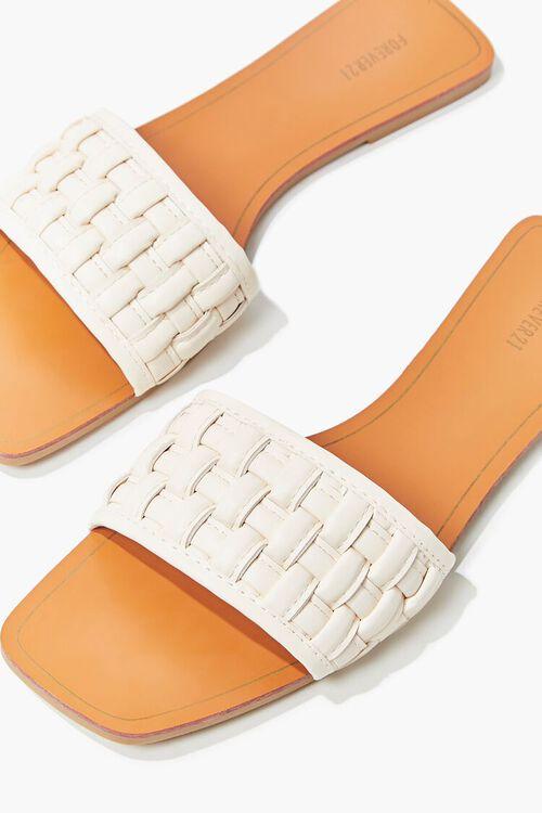Crosshatch Square-Toe Flat Sandals, image 1