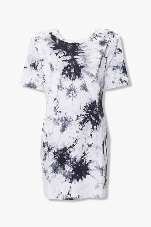 BLACK/CREAM Tie-Dye Shoulder Pad T-Shirt Dress, image 3