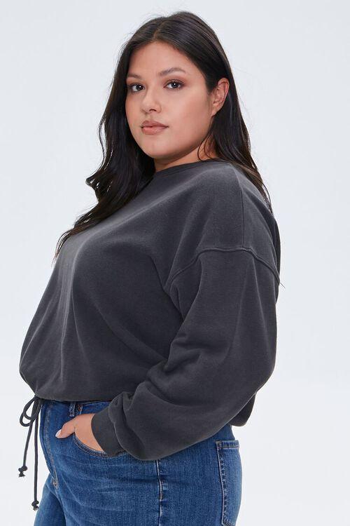 Plus Size Boxy Fleece Sweatshirt, image 2