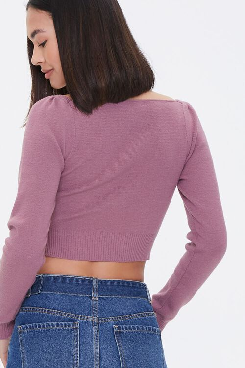 LILAC Cropped Sweater-Knit Top, image 3