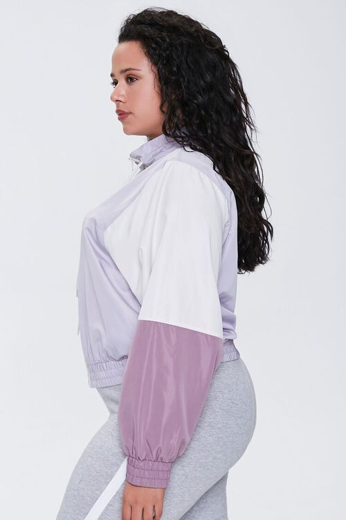 Plus Size Colorblock Windbreaker, image 2