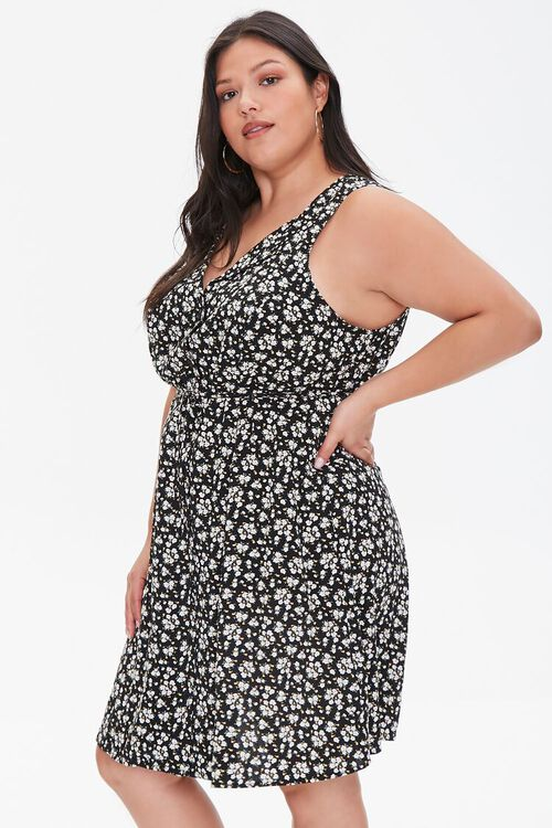 Plus Size Floral Print Mini Dress, image 2