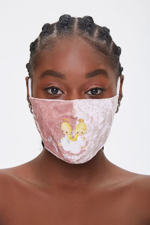 Precious Moments Graphic Face Mask, image 1