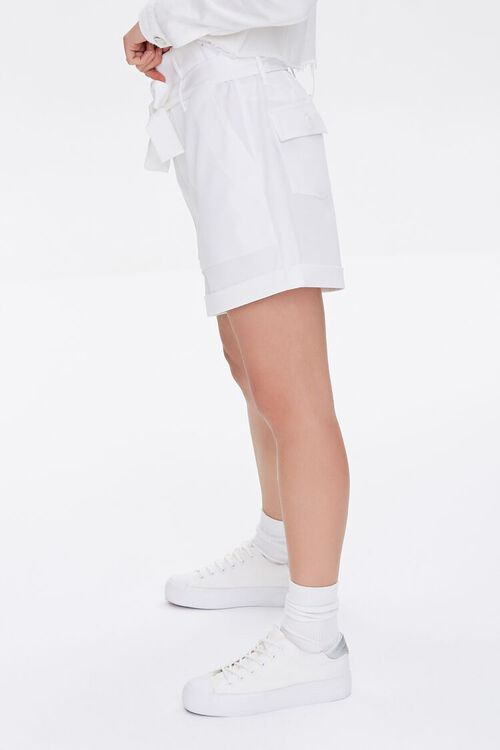 Cuffed Sash-Belt Shorts, image 3