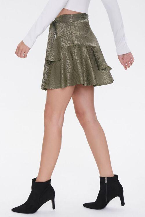 Jacquard Leopard Print Skirt, image 3