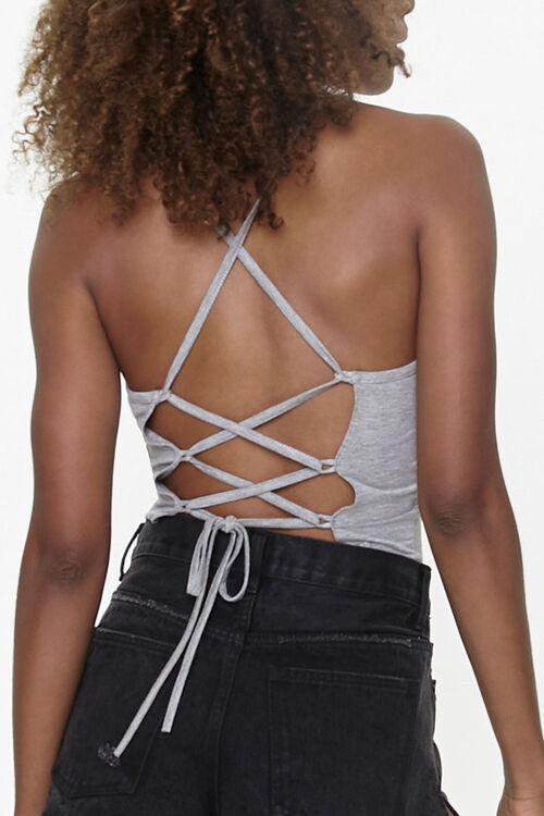 Self-Tie Lace-Up Cami, image 3