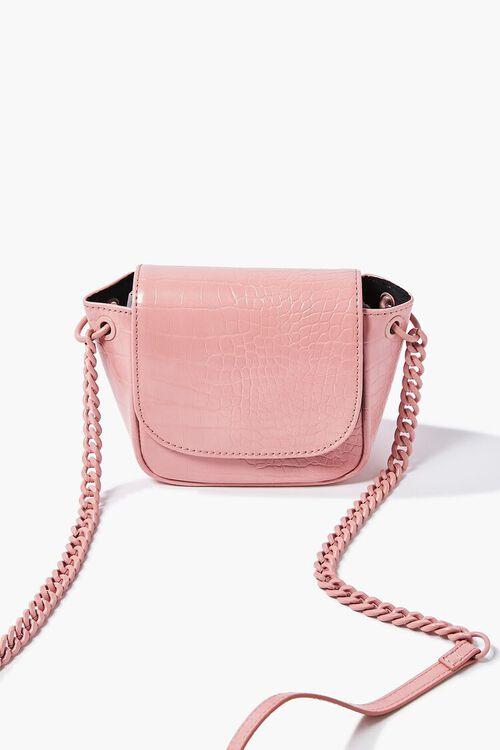 Faux Croc Leather Crossbody Bag, image 5