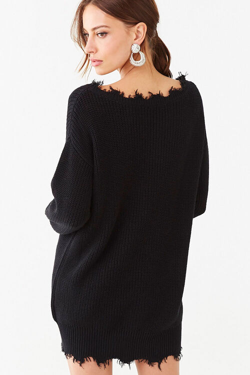 Distressed Mini Sweater Dress, image 3