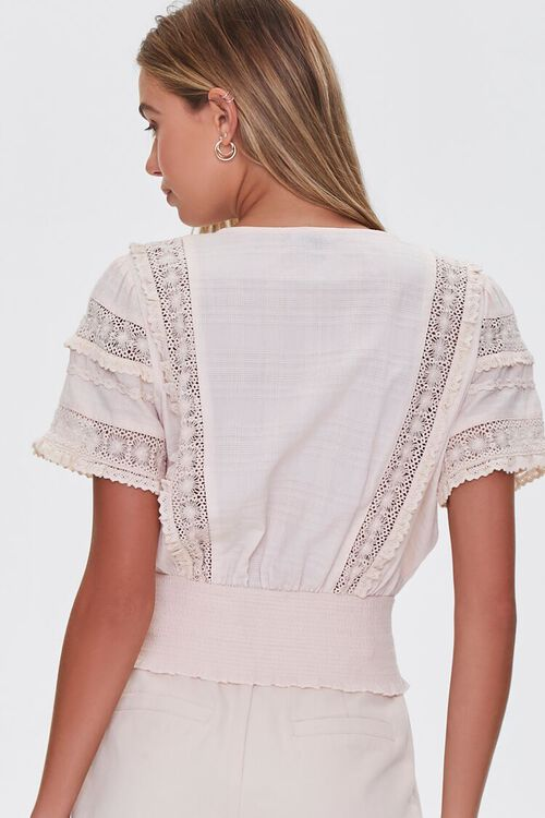 Lace-Trim Pintucked Top, image 3