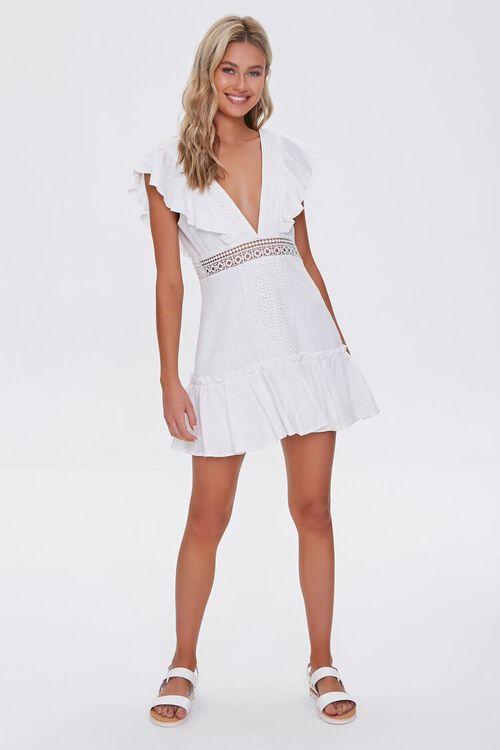 Ruffled Lace-Trim Cap-Sleeve Dress, image 4