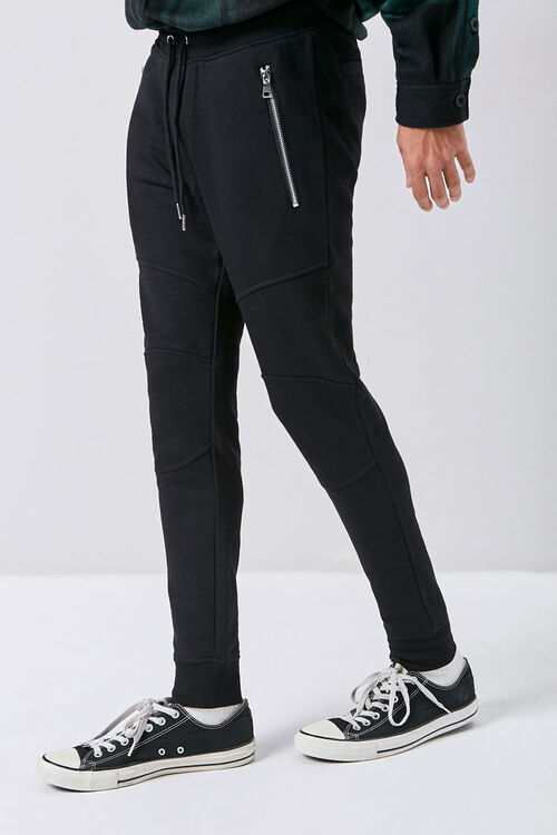 Zip-Pocket Drawstring Joggers, image 1