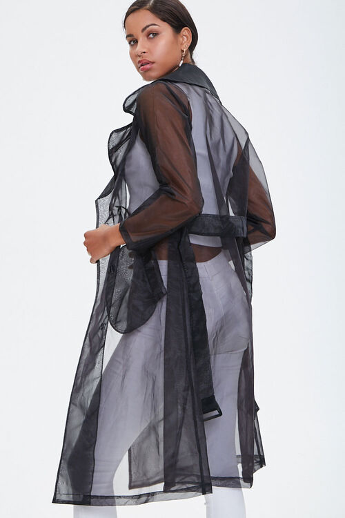 Belted Organza Trench Coat, image 3