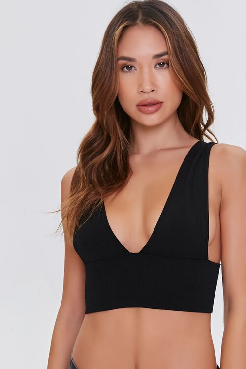 Seamless Plunging Bralette, image 1