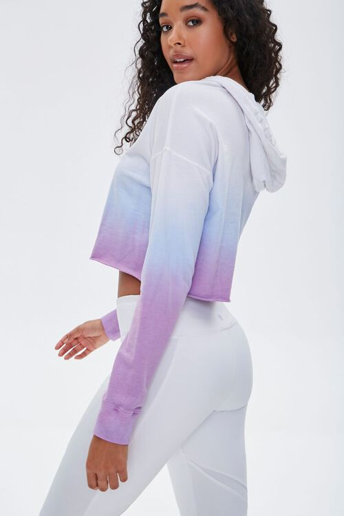 Active Ombre Raw-Cut Hoodie, image 2
