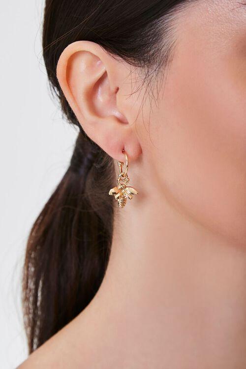 Insect Charm Hoop Earrings, image 1