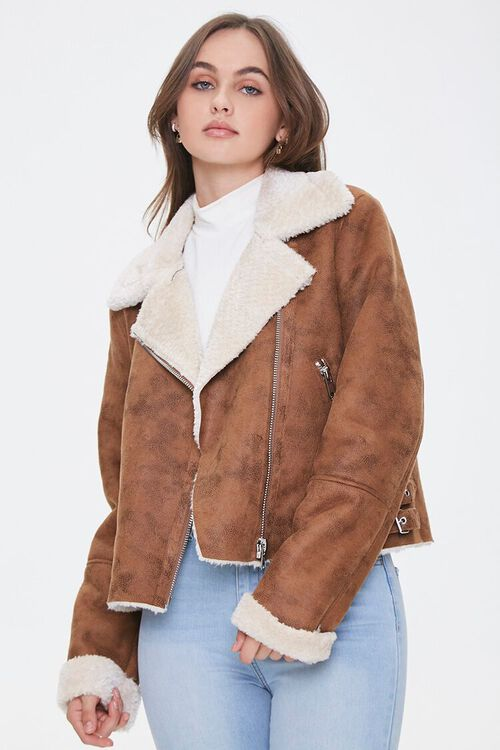 Faux Shearling & Suede Jacket, image 1