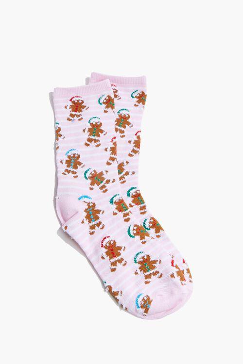 Girls Gingerbread Crew Socks (Kids), image 2