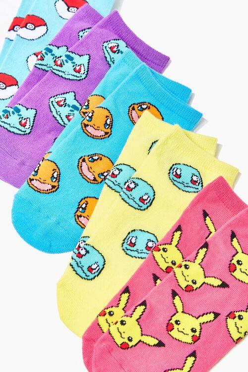 Pokemon Print Ankle Socks - 5 Pack, image 2