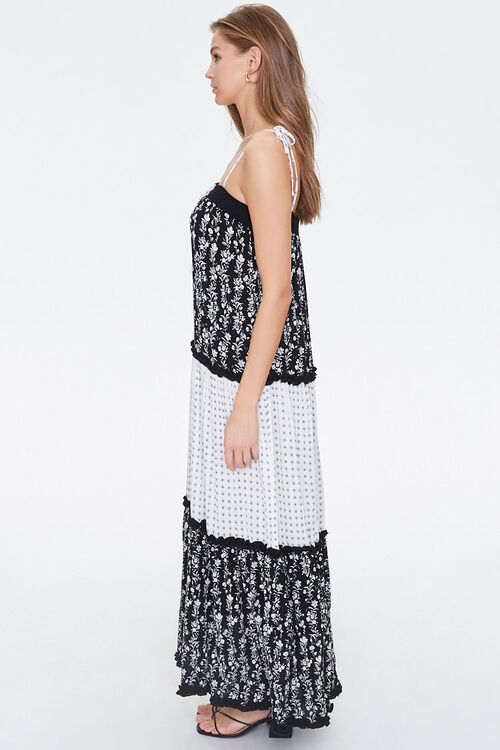 Patternblock Tasseled Maxi Dress, image 2