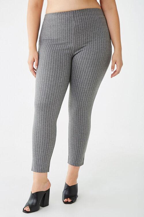 Plus Size Pinstriped Leggings, image 2