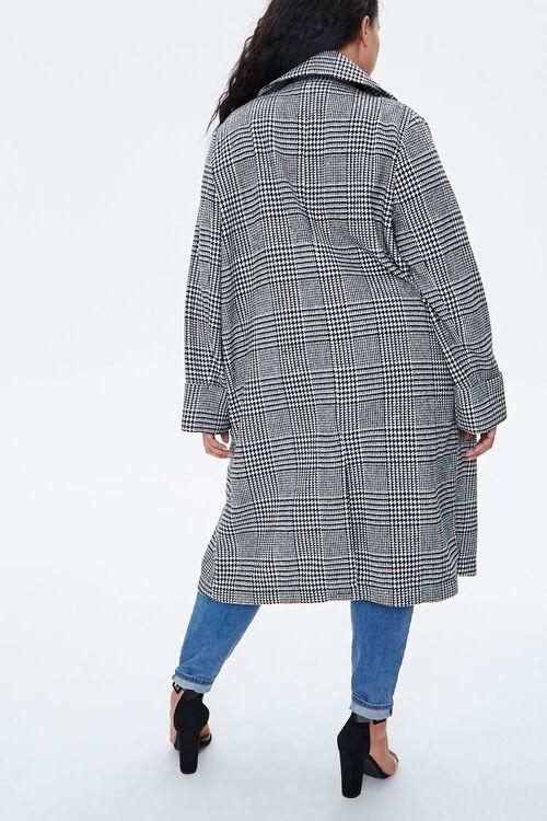 Plus Size Glen Plaid Coat, image 3