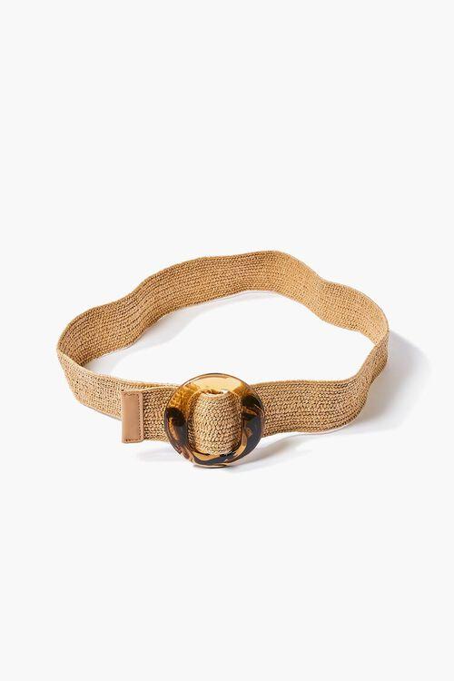 Marbled Round Buckle Waist Belt, image 2