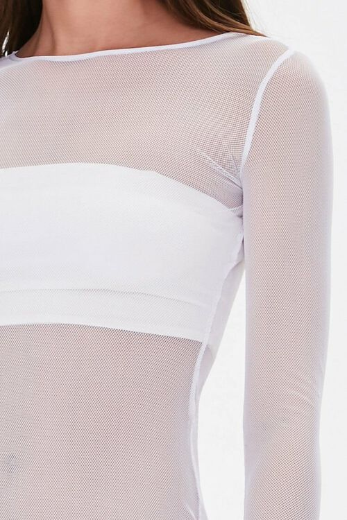 Sheer Mesh Swim Cover-Up Dress, image 5