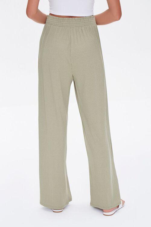 Ribbed Knit Wide-Leg Pants, image 4