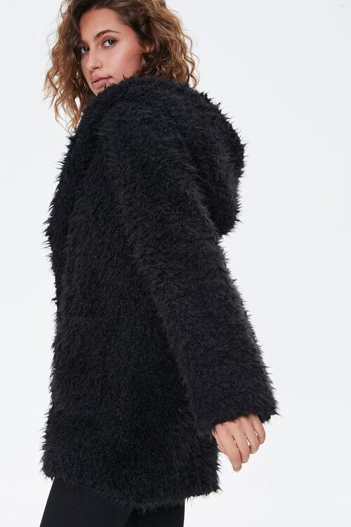 Hooded Fuzzy Knit Jacket, image 2