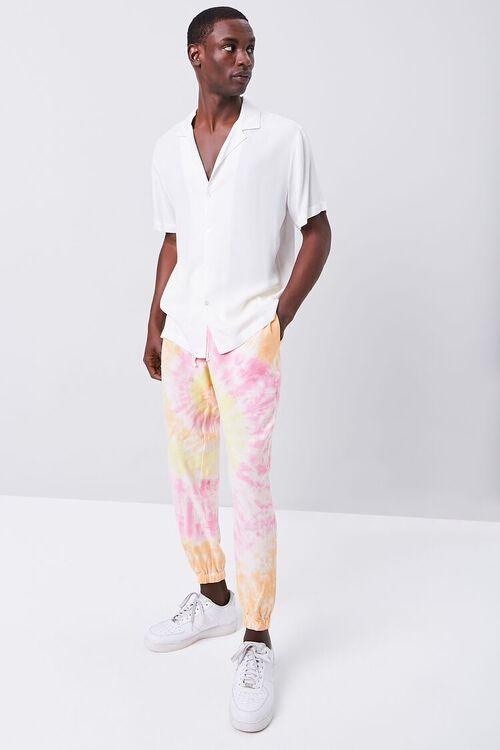 Tie-Dye Linen-Blend Joggers, image 1
