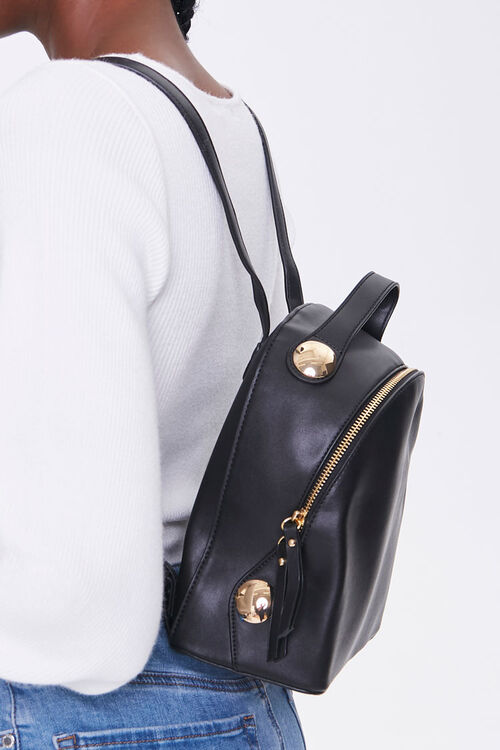Faux Leather Mini Backpack, image 2