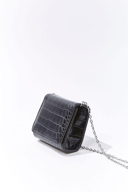 Mini Faux Croc Leather Crossbody Bag, image 2