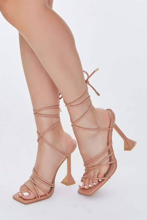 Wraparound Square-Toe Heels, image 5