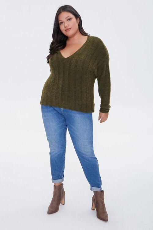 Fuzzy Knit Sweater, image 4