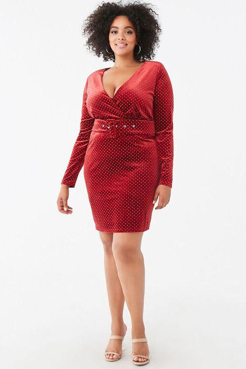 Plus Size Studded Velvet Dress, image 4