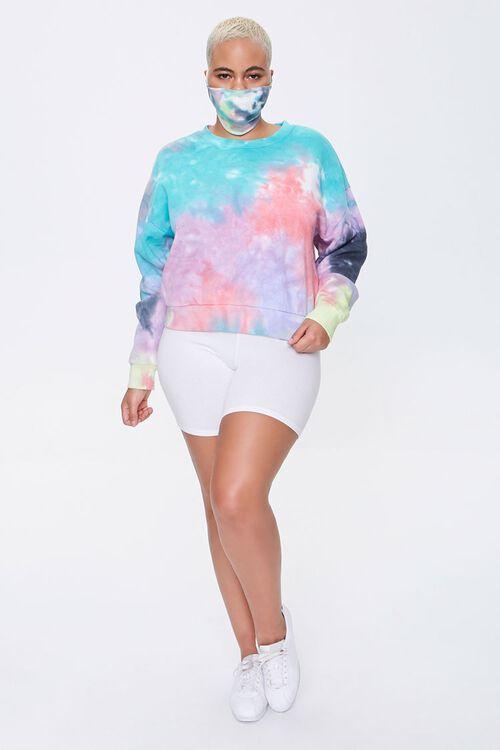 Plus Size Sweatshirt & Face Mask Set, image 4
