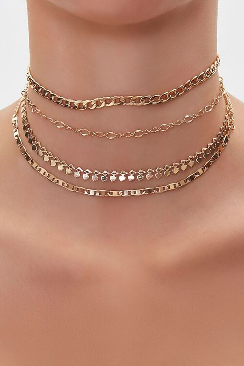 Chain Choker Necklace Set, image 1