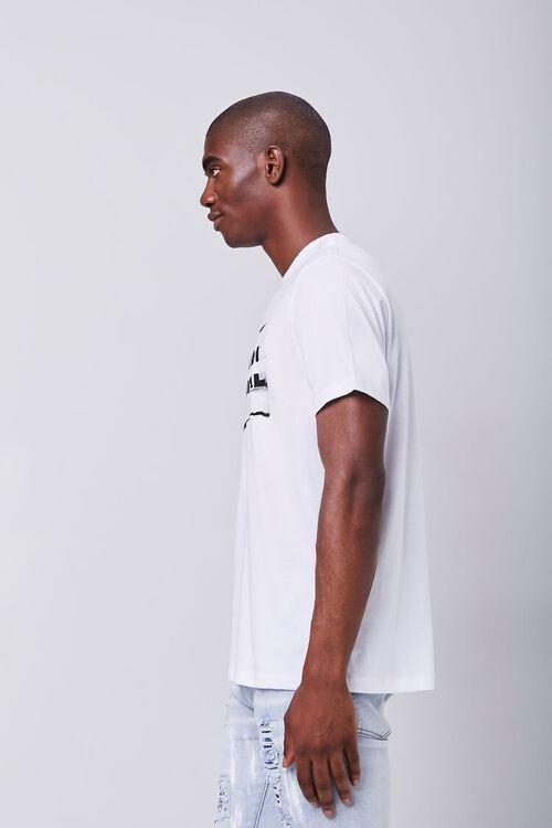 WHITE/BLACK Organically Grown Cotton Millennial Graphic Tee, image 2