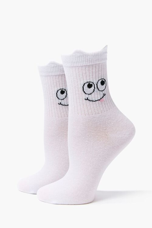 Cartoon Face Crew Socks, image 3