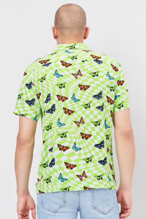 Classic Fit Checkered Butterfly Shirt, image 3