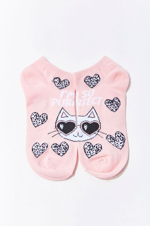 Purrfect Cat Graphic Ankle Socks, image 2