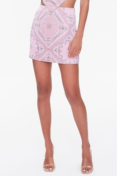 Paisley Print Mini Skirt, image 6