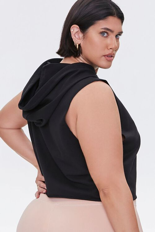 Plus Size Active Sleeveless Hoodie, image 3