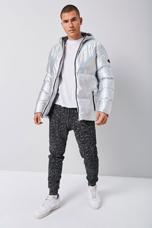 Reason Iridescent Hooded Puffer Jacket, image 4