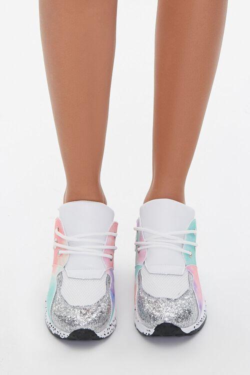 Glitter-Toe Patternblock Sneakers, image 4