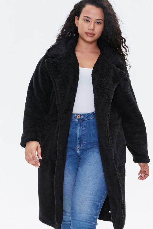 Plus Size Faux Fur Teddy Coat, image 4