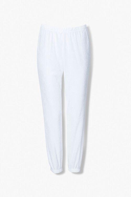WHITE Terry Cloth Jacket & Sweatpants Set, image 4